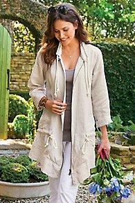 Linen Zip Jacket