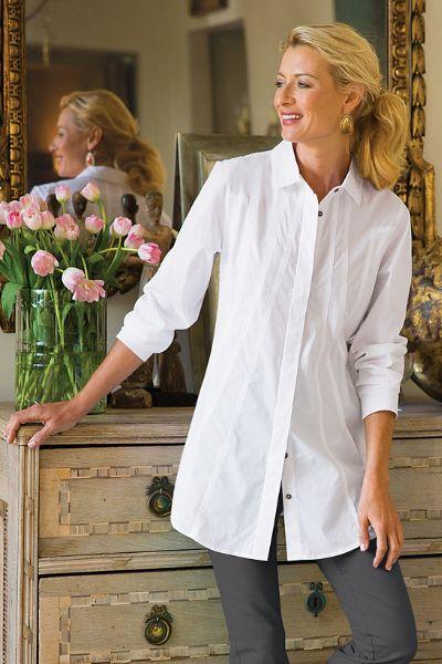 Seams Perfect Shirt - Womens Pleated Shirt, Womens Tunic Shirt ...