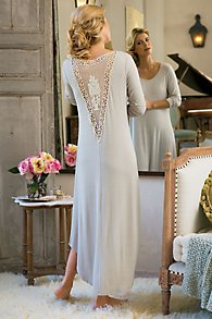 Crochet Back Nightgown