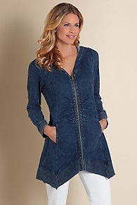 Womens Ruched Hoodie