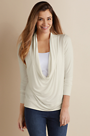 Draped_Neck_Top