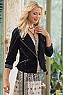 Women Velvet Moto Jacket Photo
