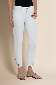 Not Your Daughter's Jeans Clarissa Lace Hem Pants