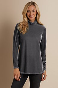 Stretch Velvet Turtleneck I