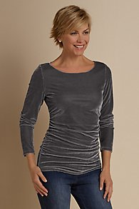 Stretch Velvet Complementary Top