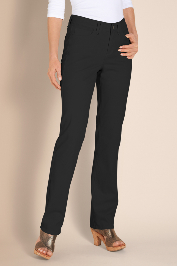 PETITES NYDJ HAYLEY STRAIGHT LEG TWILL PANTS