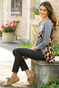 Wavy Coated Leggings