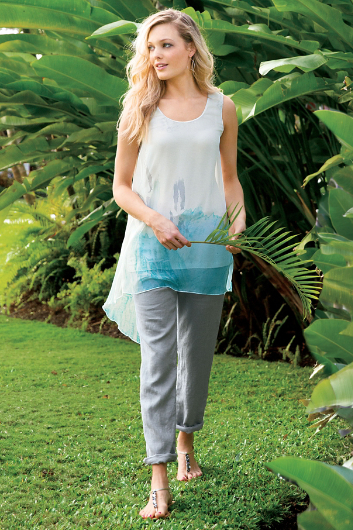 PETITES OFF DUTY LINEN PANTS