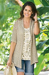 Casual Crochet Cardi