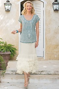 Gauze Tiered Skirt I