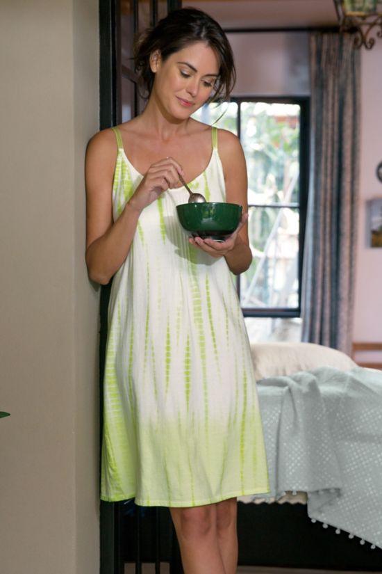Sunrise Gown Tie Dye Nightgown Shelf Bra Nightgown