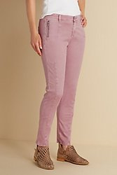 Zip Pocket Stretch Ankle Pants