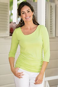 Angled Complementary Ruched Top