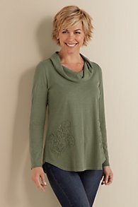 Applique Cowl Tunic