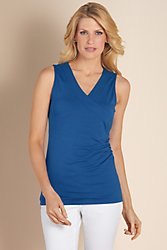 Shapely Surplice Tank