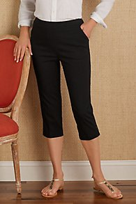 Super Stretch Button Capri