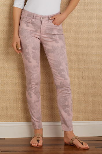 NOT YOUR DAUGHTER'S JEANS CLARISSA FLORAL ANKLE PANTS