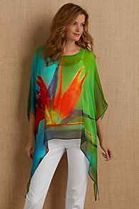 Silk Birds of Paradise Top