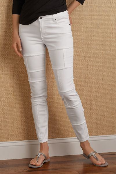 Paige Patched Jeans - Women's White Jeans, White Skinny Jeans ...