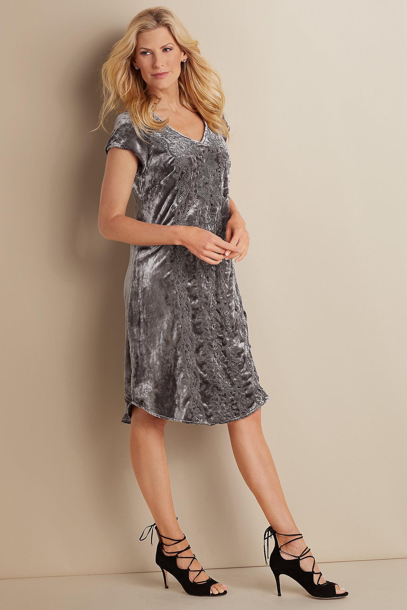 Bohemian Velvet Dress