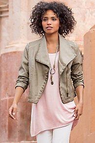Fiona Faux Leather Jacket
