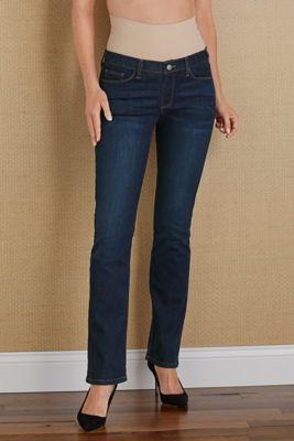 Bootcut Tummy Trimmer Jean - Womens Elastic Waist Jeans, Bootcut ...