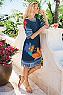 Women Hibiscus Dress Photo