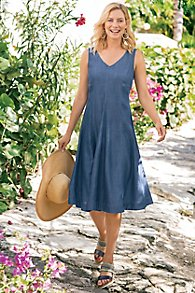 Take A Twirl Tencel Dress