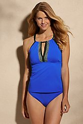 Sunsets High Neck Tankini Top