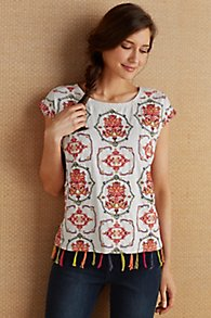 Embroidered Knit Tee