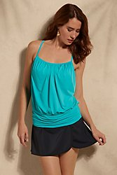 Fit 4 U Blouson Tankini Top