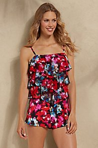 Fit 4 U Tiered Swim Romper