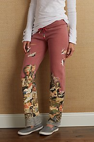 Printed Knit Pull On Pants