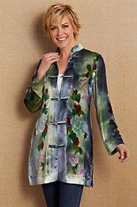 Printed Silk Velvet Jacket