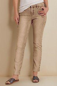Cut Cotton Straight Pants