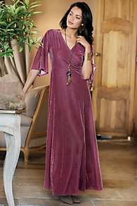 Vera Velvet Wrap Dress