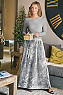 Talls Vivian Velvet Pleated Skirt Photo