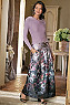 Women Aster Floral Skirt Photo