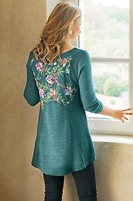 Embroidered Thermal Swing Sweatshirt