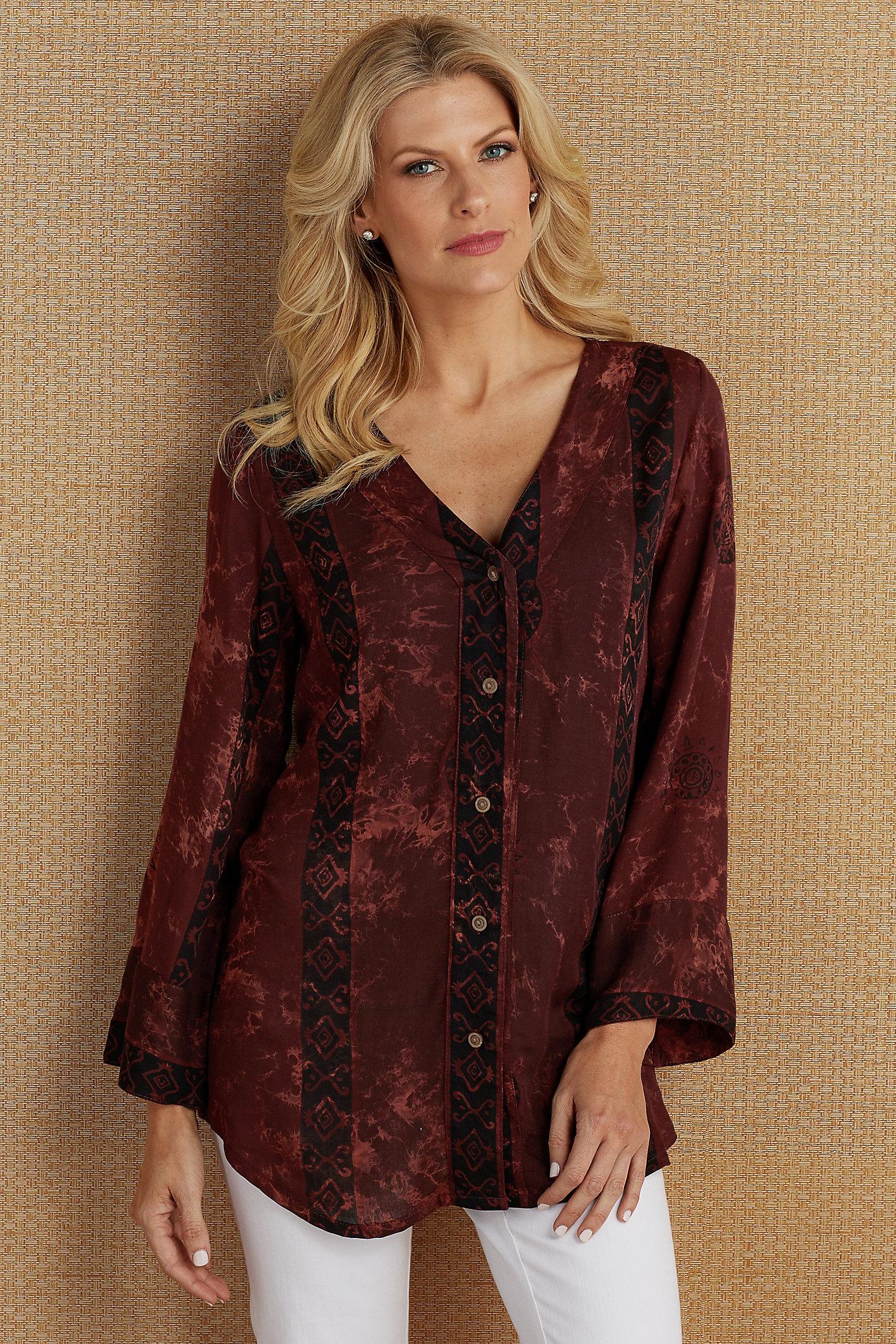 Rustic Batik Tunic