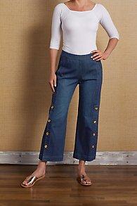 Side Button Denim Jeans
