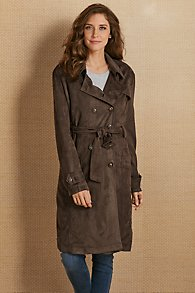 Tallie Faux Suede Trench