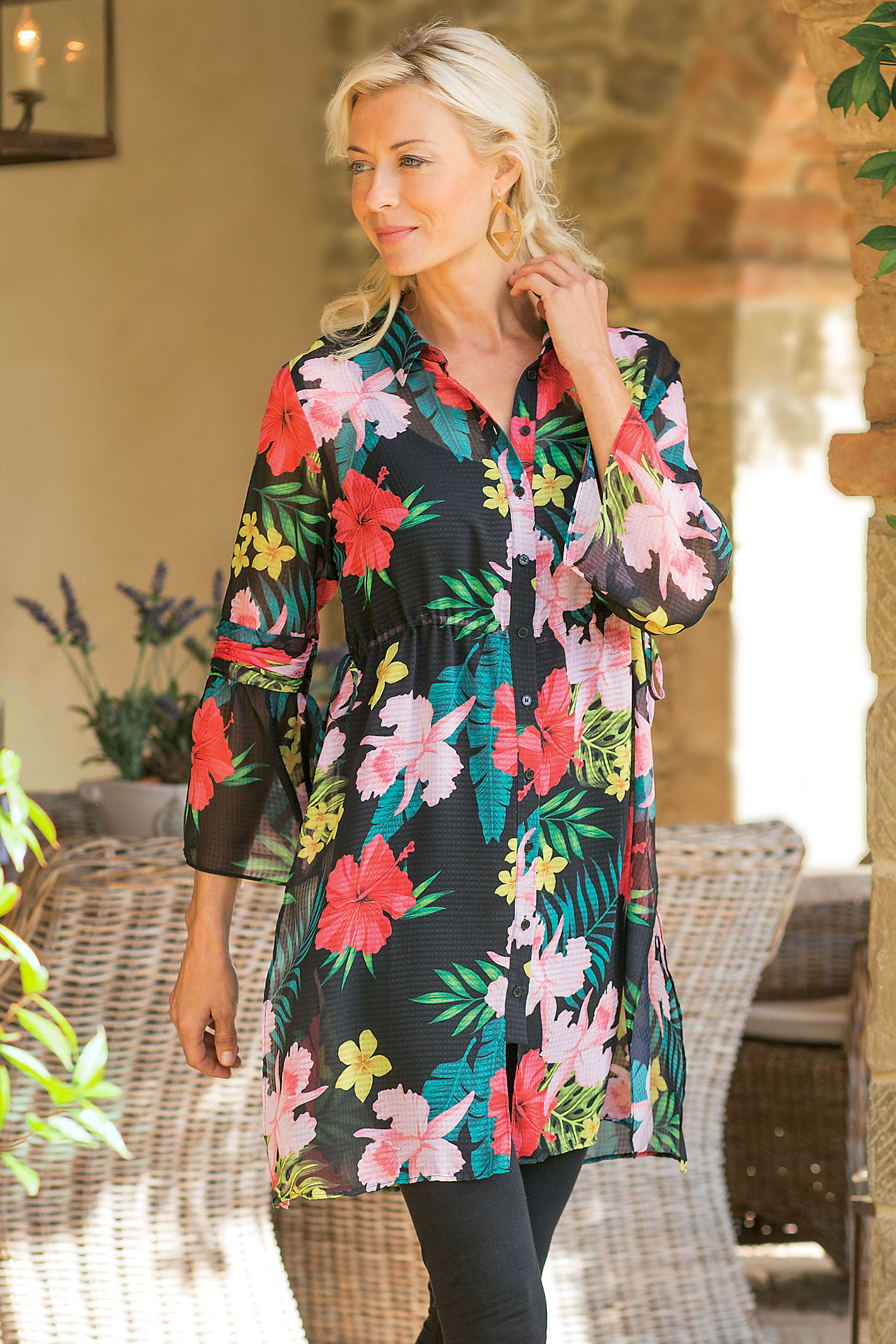 Petites Tropical Moonlight Tunic