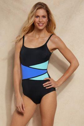 Fit 4 U Colorblock Swimsuit
