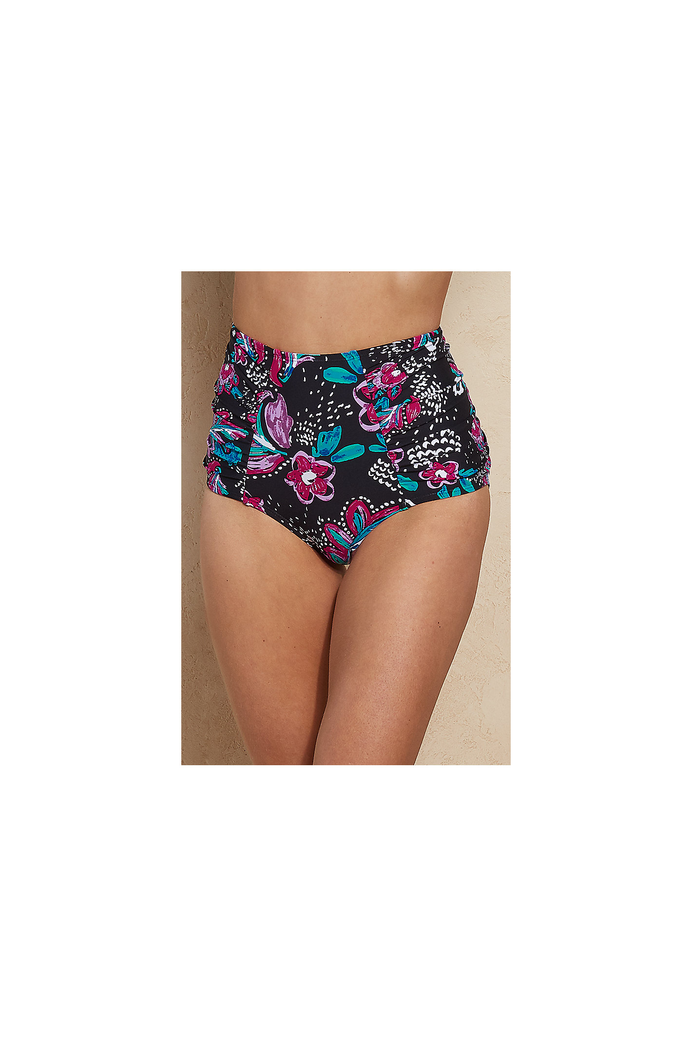 Anne Cole High Waisted Printed Bottoms
