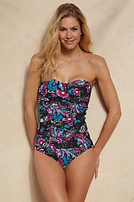 Anne Cole Twist Front Bandeau One Piece