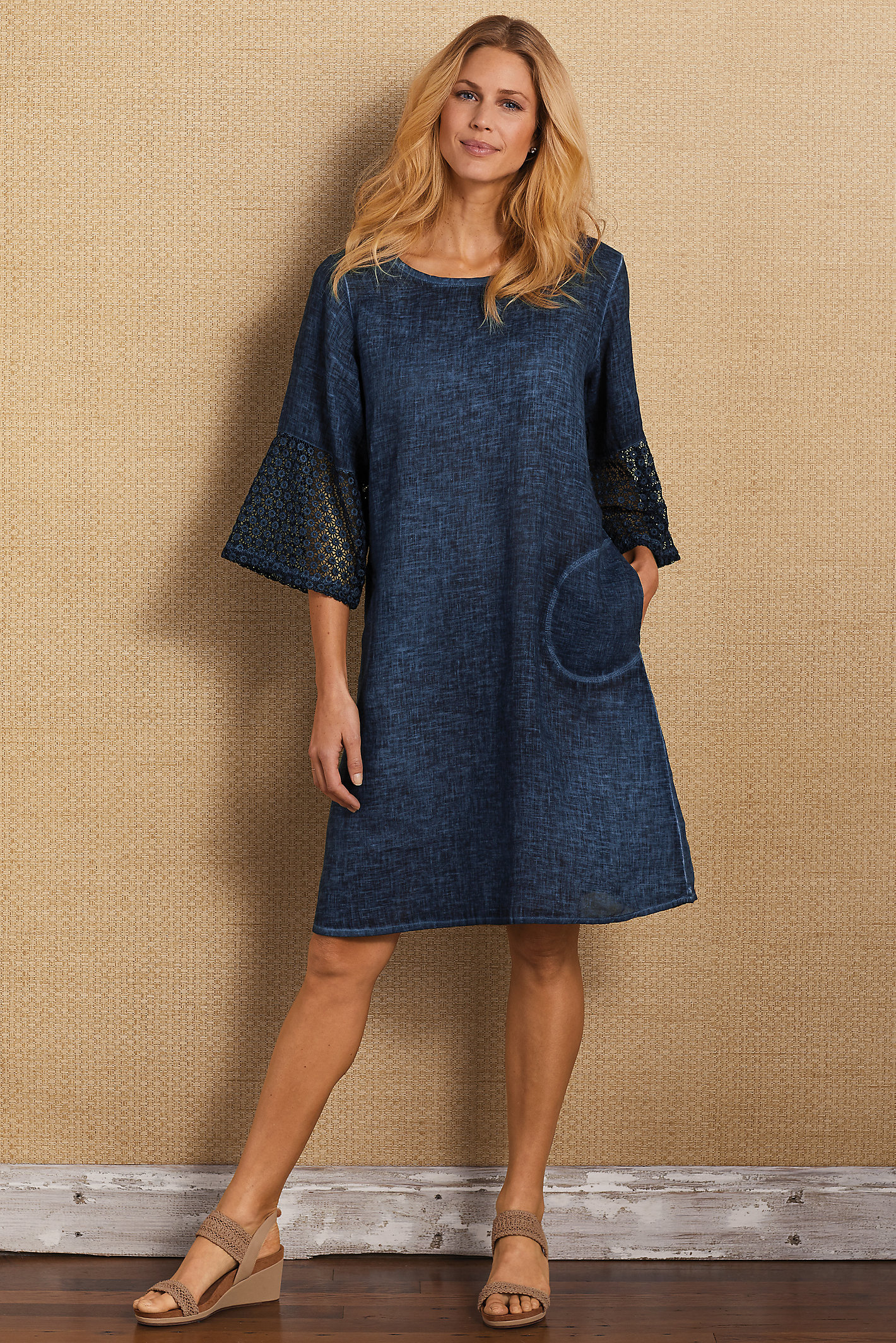 Franca Crochet Sleeve Dress