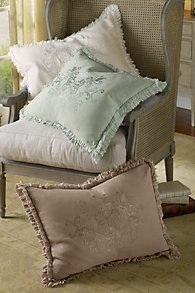 Ruffle Embroidered Bed Sham