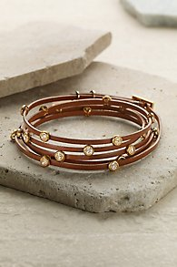 Brown Leather Wrap Bracelet