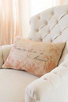 Coral Calling Card Pillow